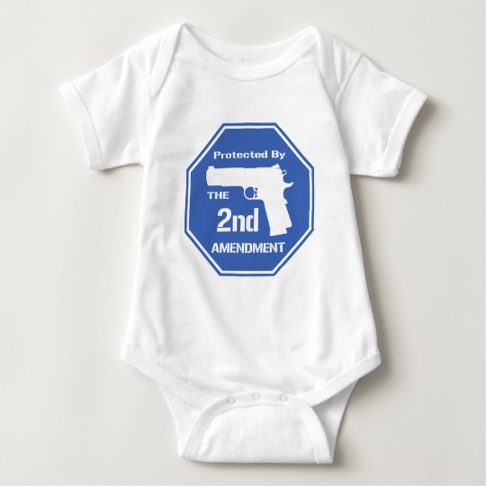 Protected By The Second Amendment (Blue).png Baby Bodysuit