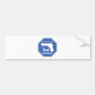 Protected By The Second Amendment (Blue).png Bumper Sticker