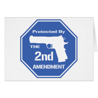 Protected By The Second Amendment (Blue).png Greeting Card
