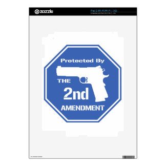 Protected By The Second Amendment (Blue).png iPad 2 Skin