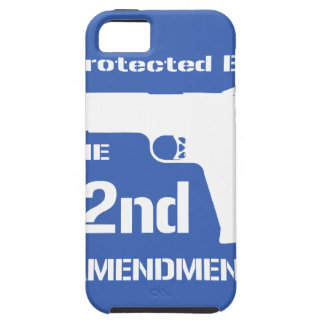 Protected By The Second Amendment (Blue).png iPhone SE/5/5s Case