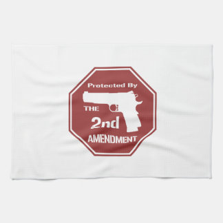 Protected By The Second Amendment Kitchen Towel