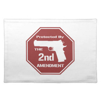 Protected By The Second Amendment (Red) Placemat