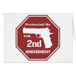 Protected By The Second Amendment (Red).png Greeting Card