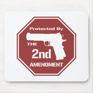Protected By The Second Amendment (Red).png Mouse Pad