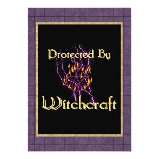Protected By Witchcraft 5x7 Paper Invitation Card