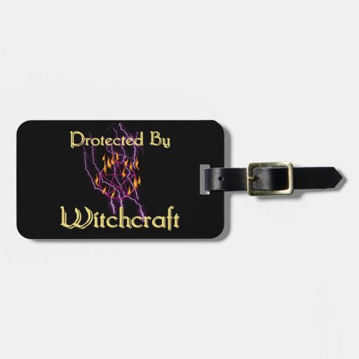 Protected By Witchcraft Bag Tags