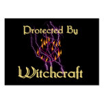 Protected By Witchcraft Large Business Cards (Pack Of 100)