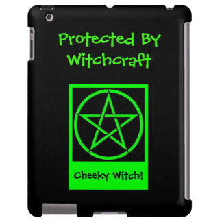 Protected by Witchcraft Cheeky Witch iPad Case