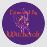 Protected By Witchcraft Classic Round Sticker