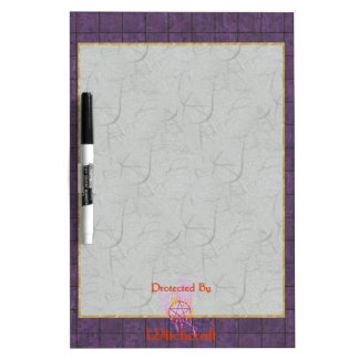 Protected By Witchcraft Dry Erase Board