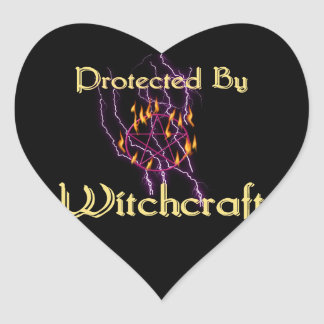 Protected By Witchcraft Heart Sticker