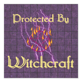 Protected By Witchcraft Invitation