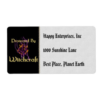 Protected By Witchcraft Label