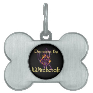 Protected By Witchcraft Pet ID Tags