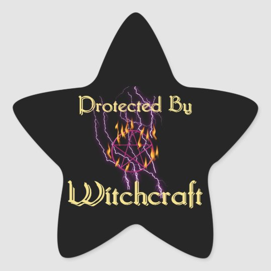 Protected By Witchcraft Star Sticker