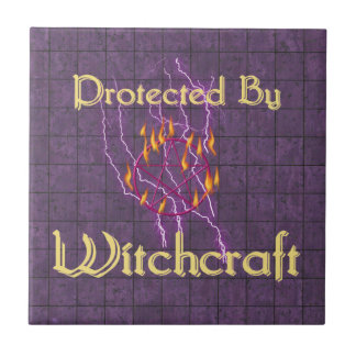 Protected By Witchcraft Ceramic Tiles