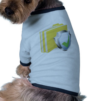 Protected folder document concept dog clothes