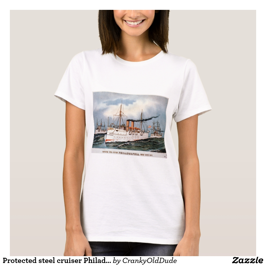 Protected steel cruiser Philadelphia, United State T-Shirt - Best Selling Long-Sleeve Street Fashion Shirt Designs