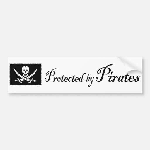 ProtectedbyPirates, pegatina para el parachoques Etiqueta De Parachoque