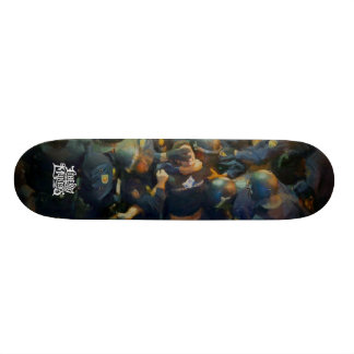 Protecting And Serving Painting Skateboard Deck