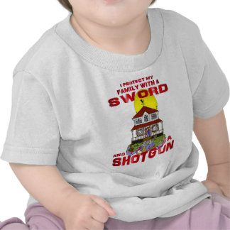Protecting my Family from Zombies Tshirt