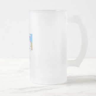 Protecting our freedom frosted glass beer mug