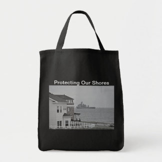"""""""Protecting our shores"""" collection Grocery Tote Bag"""