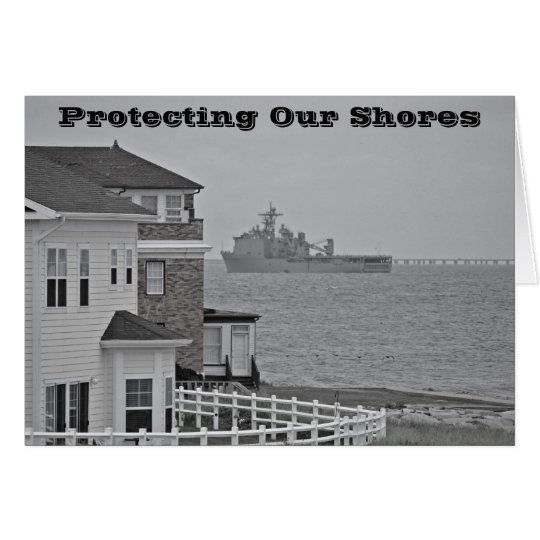 """""""Protecting our shores"""" collection Card"""