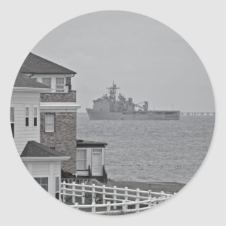 """Protecting our shores"" collection Classic Round Sticker"