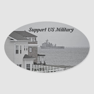 """Protecting our shores"" collection Oval Sticker"