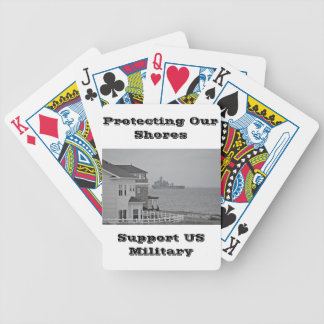 """""""Protecting our shores"""" collection Bicycle Playing Cards"""