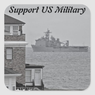 """""""Protecting our shores"""" collection Square Sticker"""