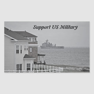 """""""Protecting our shores"""" collection Rectangular Sticker"""