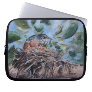 Protecting Robin Laptop Sleeve