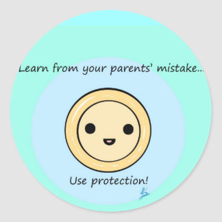 Protection Classic Round Sticker
