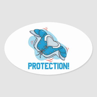 Protection Oval Sticker