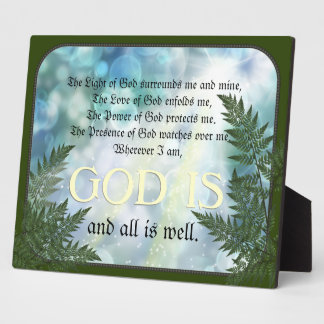 Protection Prayer Display Plaques
