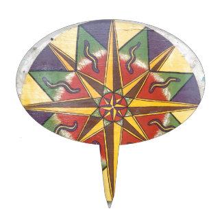 Protection Star Mandala Cake Topper