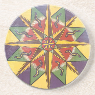 Protection Star Mandala Coaster