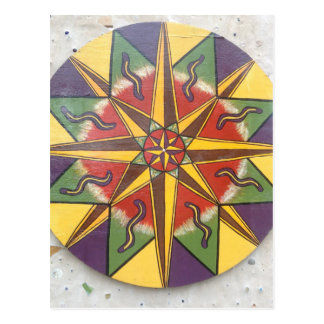Protection Star Mandala Postcard