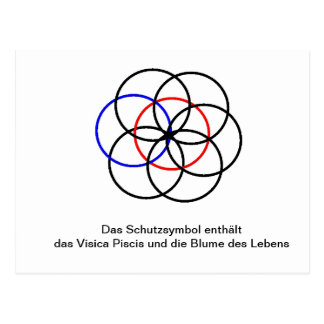 Protection symbol flower of the life and Vesica Pi Post Card