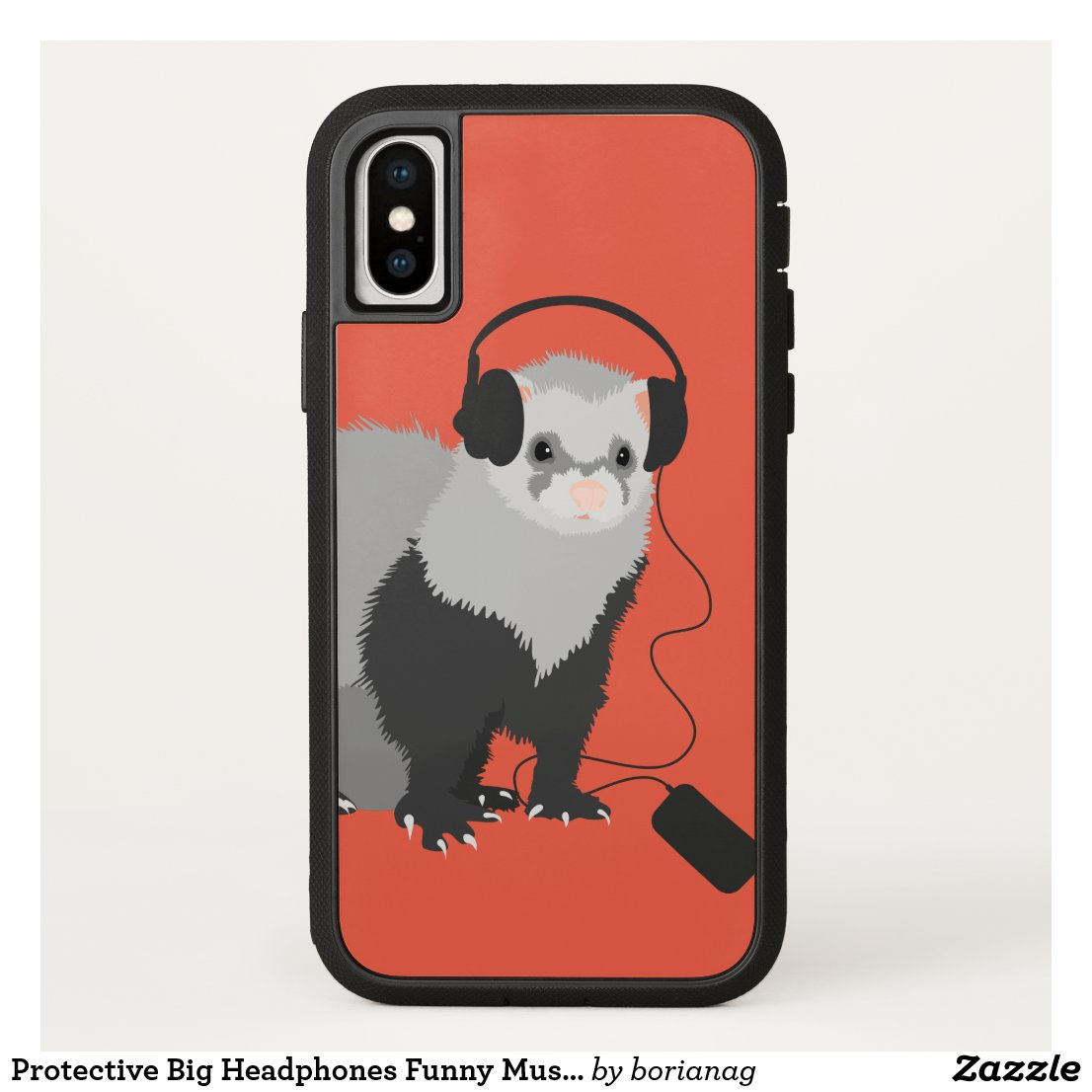 Protective Big Headphones Funny Music Lover Ferret