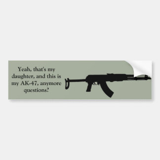 Protective father's bumper sticker