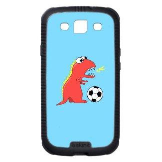 Protective Funny Cartoon Dinosaur Soccer