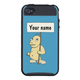 Protective Funny Cookie Monster Personalized iPhone 4 Case