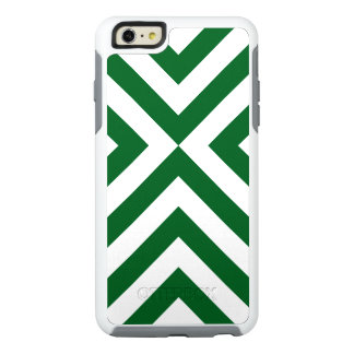 Protective Geometric Green and White Chevrons OtterBox iPhone 6/6s Plus Case