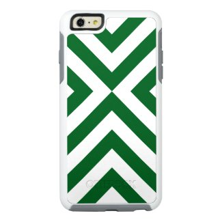 Protective Geometric Green and White Chevrons