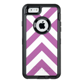 Protective Geometric Lavender and White Chevrons OtterBox Defender iPhone Case