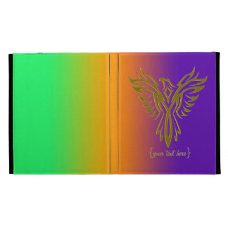 Protective Golden Phoenix rising from the ashes iPad Folio Cover